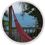 Tropical Paradise... Round Beach Towel