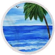 Tropical Path Round Beach Towel