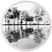 Tropical Reflections Round Beach Towel