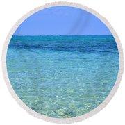 Tropical Seascape Round Beach Towel