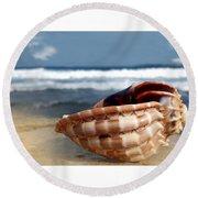 Tropical Shell 2 Round Beach Towel