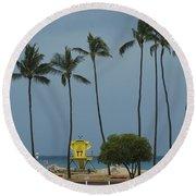 Tropical Storm Flossie Kapukaulua Beach Paia Maui Hawaii 2013 Round Beach Towel