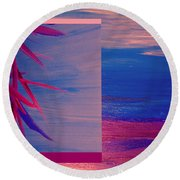 Tropical Sunrise By Jrr Round Beach Towel