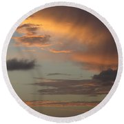 Tropical Sunset Sky Round Beach Towel