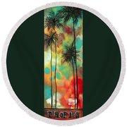 Tropics By Madart Round Beach Towel