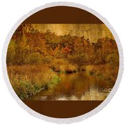Trout Stream Textured Round Beach Towel