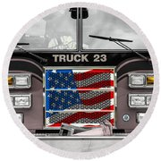 Truck 23 Round Beach Towel