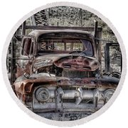 Truck Round Beach Towel