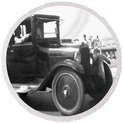 Truck Vintage Round Beach Towel
