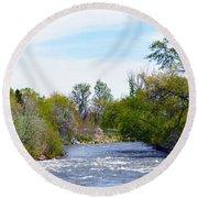 Truckee River  Round Beach Towel