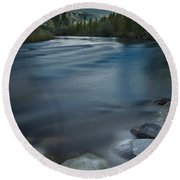 Truckee River Round Beach Towel