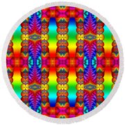 True Colors Round Beach Towel