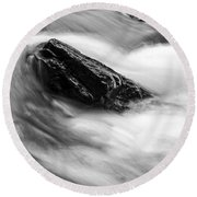 True's Brook Gorge Water Fall Round Beach Towel