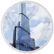 Trump Tower 3 Letter Signage Round Beach Towel
