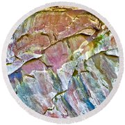 Trumpet Abstract Round Beach Towel