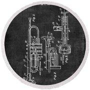 Trumpet Patent Round Beach Towel
