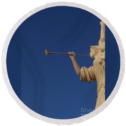 Trumpeter  Round Beach Towel by First Star Art