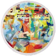 Trust In Hashem With All Of Your Heart 2 Round Beach Towel