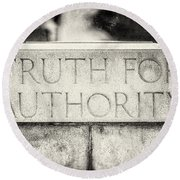 Truth For Authority Lucretia Mott  Round Beach Towel