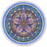 Truth Mandala Round Beach Towel