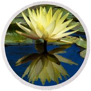 Truth Reflected Round Beach Towel