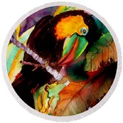 Tu Can Toucan Round Beach Towel