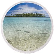Tuamatu Islands Round Beach Towel