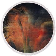 Tubulence - S03ac01 Round Beach Towel by Variance Collections