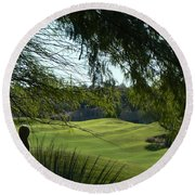 Tucson Foothills Golf Course Round Beach Towel