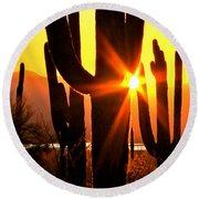 Tucson Sunset Round Beach Towel