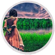 Tuesdays Child Round Beach Towel