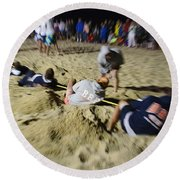 Mid-atlantic Lifeguard Competition - Tug Of War  Round Beach Towel