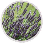 Tuilieres Lavender Round Beach Towel