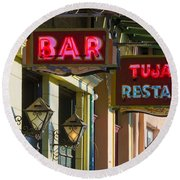Tujague's Bar And Restaurant Round Beach Towel