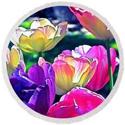 Tulip 10 Round Beach Towel