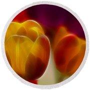 Tulip-7016-fractal Round Beach Towel