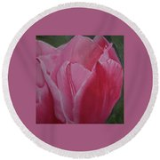 Tulip Blooming Round Beach Towel