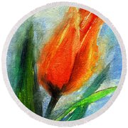 Tulip - Flower For You Round Beach Towel