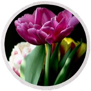 Tulip For Easter Round Beach Towel