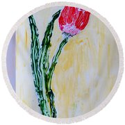 Tulip For You Round Beach Towel