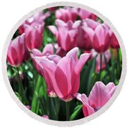 Tulip Heaven Round Beach Towel