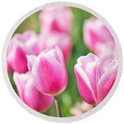 Tulip Time Round Beach Towel by Angela Doelling AD DESIGN Photo and PhotoArt