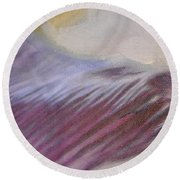 Tulip Time Detail Round Beach Towel