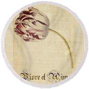 Tulip - Vivre Et Aimer S02t03tr Round Beach Towel