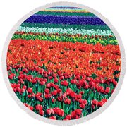 Tulipomania Round Beach Towel by Benjamin Yeager