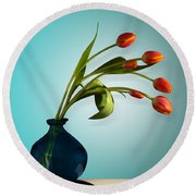 Tulips 6 Round Beach Towel