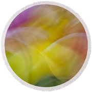 Tulips Abstract Round Beach Towel