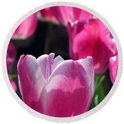 Tulips - Affectionately Yours 02 Round Beach Towel