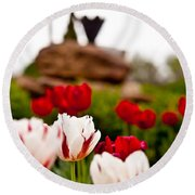 Tulips Ani Tsalagi Round Beach Towel