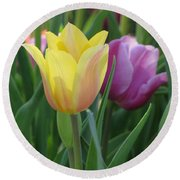 Tulips - Caring Thoughts 03 Round Beach Towel